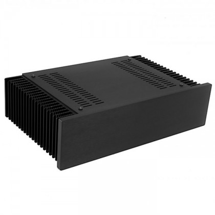 Hifi2000 MiniDissipante Chassis Heatsink 2U 200mm 10mm Black front panel