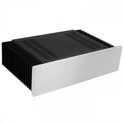 Hifi2000 MiniDissipante Chassis Heatsink 2U 200mm 10mm Silver front panel