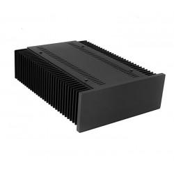 Hifi2000 MiniDissipante Chassis Heatsink 2U 300mm 10mm Black front panel