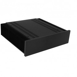 Hifi 2000 MiniDissipante Chassis Heatsink 2U 300x250mm 10mm Black front panel