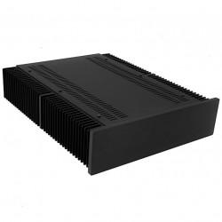 Hifi2000 MiniDissipante Chassis Heatsink 2U 400mm 10mm Black front panel