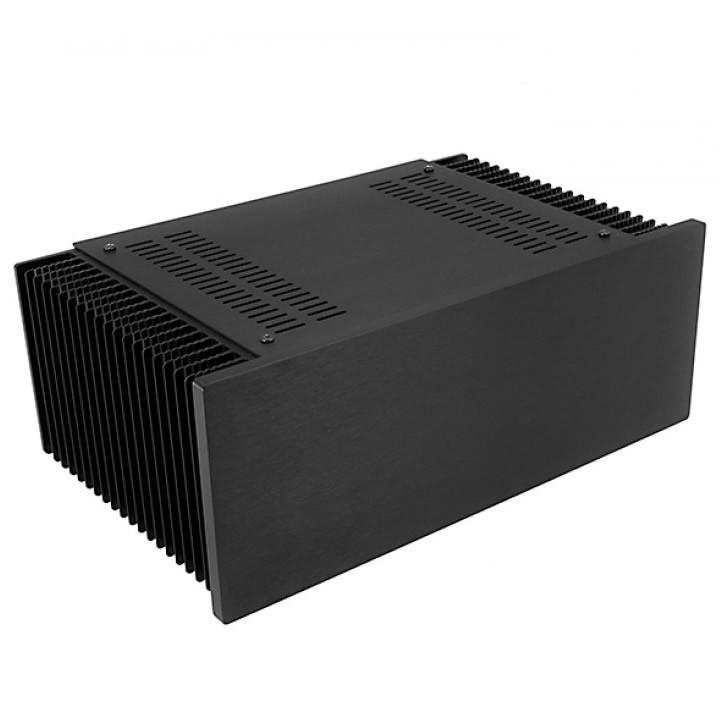 Hifi2000 MiniDissipante Chassis Heatsink 3U 200mm 10mm Black front panel
