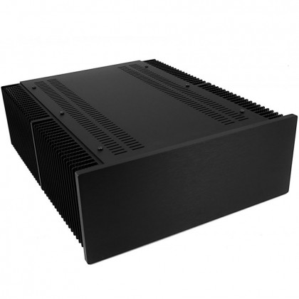 Hifi2000 MiniDissipante Chassis Heatsink 3U 400mm 10mm Black front panel