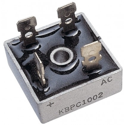 Metal Bridge Rectifier B125C25A 280V AC 400V, 25A