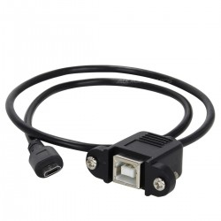 Passe Cloison Micro USB Mâle vers USB-B femelle 50cm