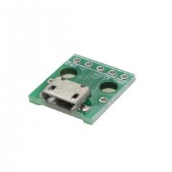 Connecteur Micro USB Embase type B Femelle 5 Pin SMT avec PCB