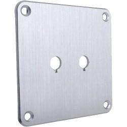 Plaque aluminium Silver pour borniers