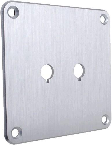 DAYTON AUDIO SBPP-SI Plaque aluminium Argent pour borniers