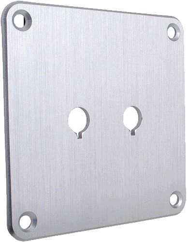 Aluminium plate for binding posts Silver