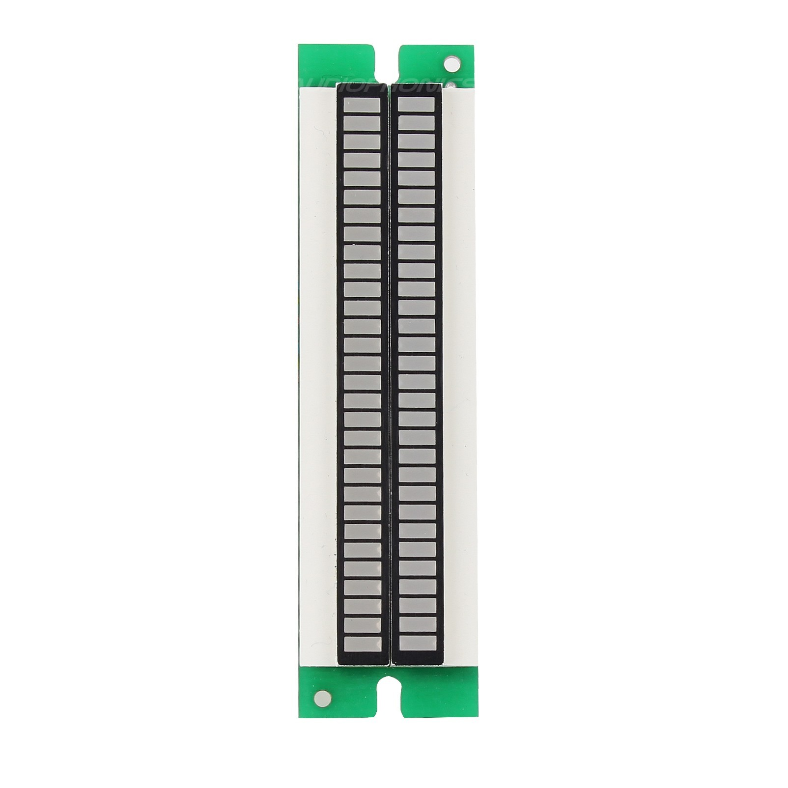 led bar graph vu meter dual column to display voltage