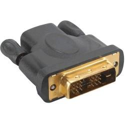 Adaptateur HDMI vers DVI Plaqué Or