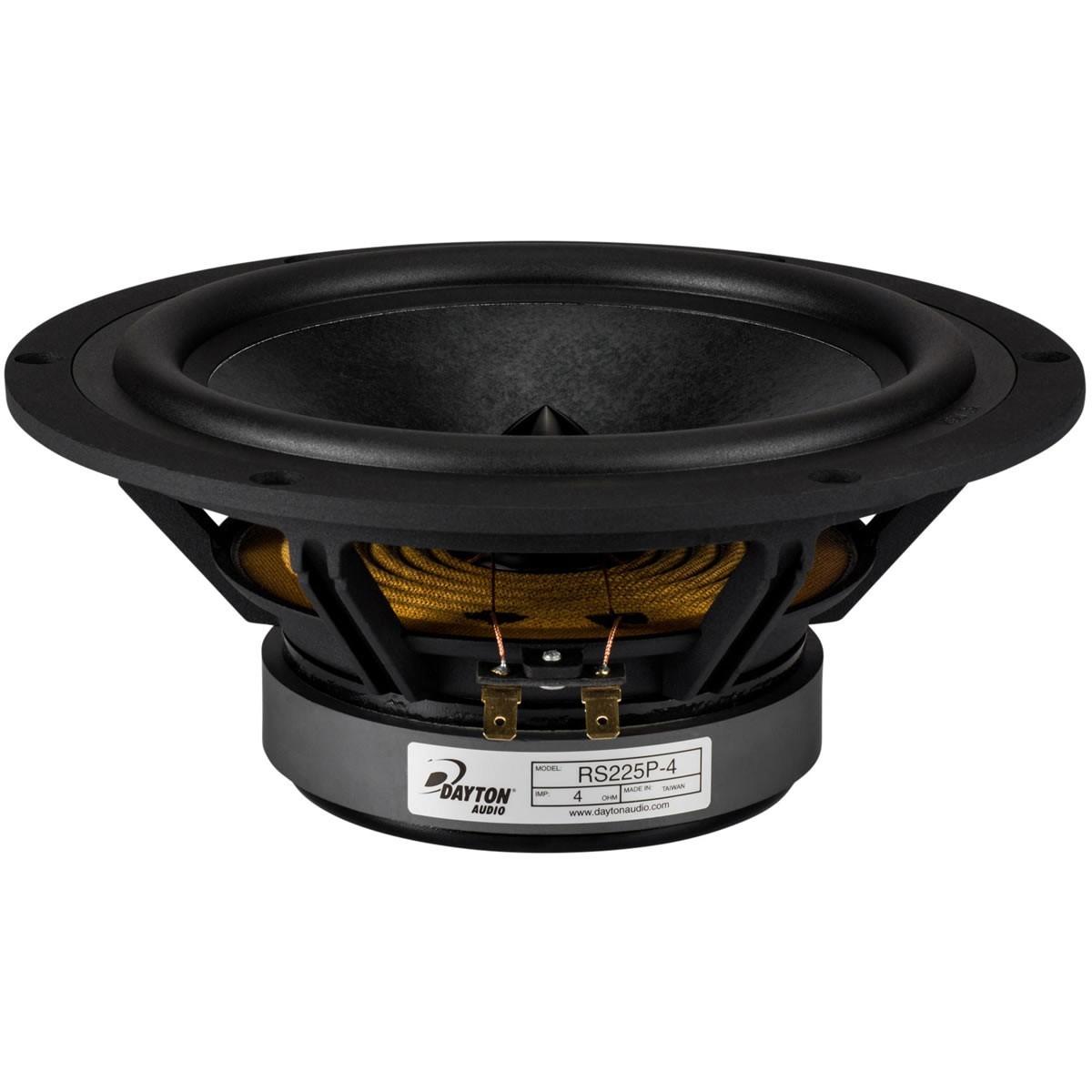 """DAYTON AUDIO RS225P-4 Reference Loudspeaker Woofer 4 Ohm Ø8"""""""
