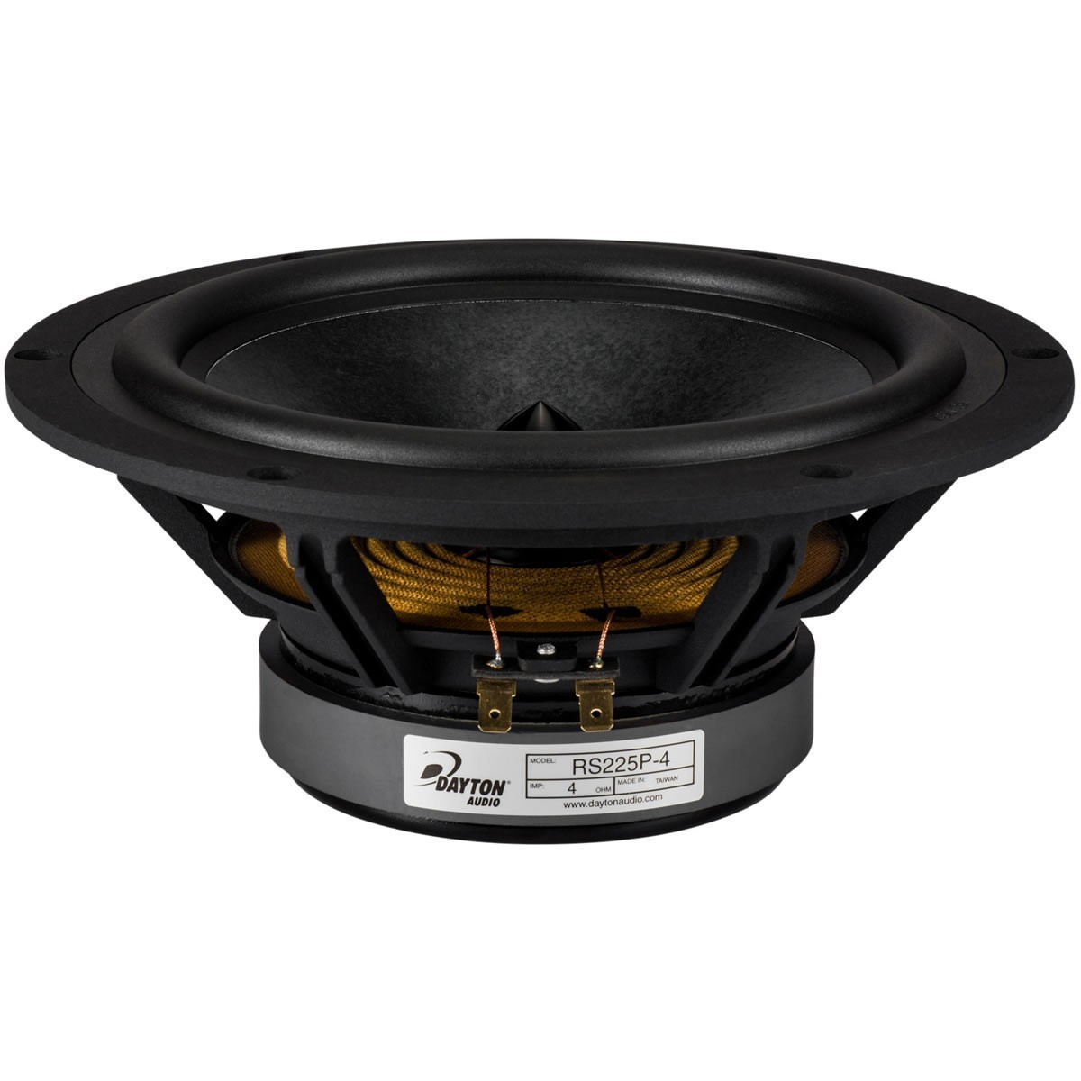 DAYTON AUDIO RS225P-4 Reference Speaker Driver Midbass Paper 80W 4 Ohm 94dB 35Hz - 5500Hz Ø 22cm
