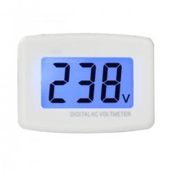 Voltmètre AC sur Fiche Schuko Secteur avec Afficheur 110V/220V