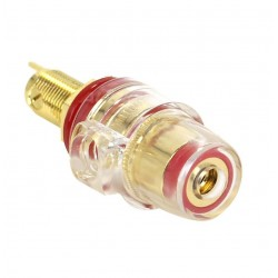 ELECAUDIO BP-205 Isolated Acrylic Terminal Block Gold Plated V2 (Red)
