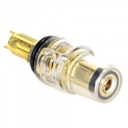 ELECAUDIO BP-205 Gold plated acrylic isolated binding post V2 Black