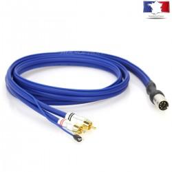 AUDIOPHONICS Câble de modulation Sinus Phono DIN Mâle/2 RCA 1.5 m
