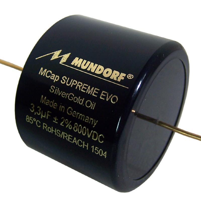 Mundorf Mcap Supreme EVO SilverGold Oil Capacitor 3.3µF
