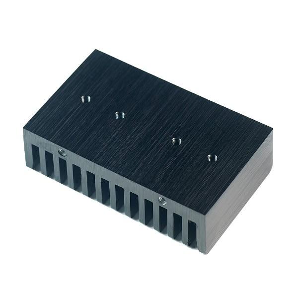 Radiateur dissipateur thermique anodisé Noir 58.5x35.6x17.75mm