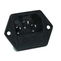 IEC + fuse holder 5X20 mm