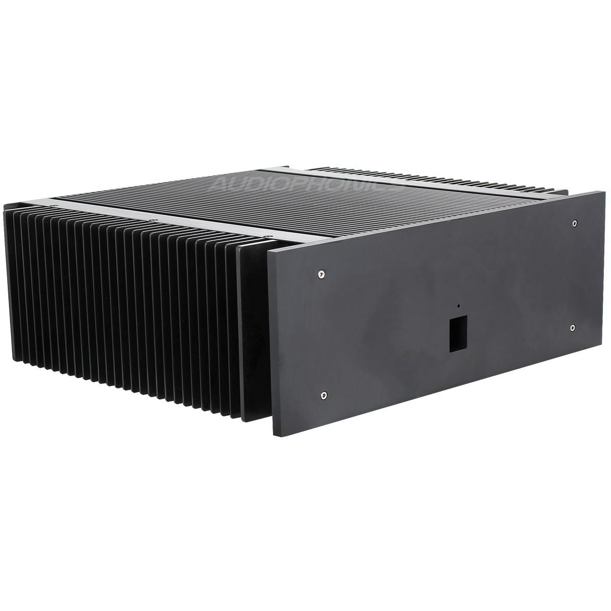 Boitier DIY Amplificateur de Puissance 100% Aluminium 400x374x150mm
