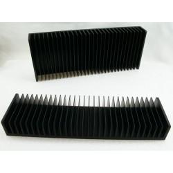 Radiateur dissipateur thermique anodisé Noir 300x80x40