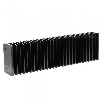 Radiateur Dissipateur Thermique Anodisé Noir 300x85x50