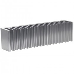 Heat Sink Radiator Black Anodized 200x72x40 Silver