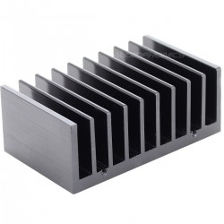 Heat Sink Radiator Black Anodized 77x47x30mm Black