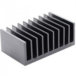 Radiateur Dissipateur Thermique Anodisé 77x47x30mm Noir