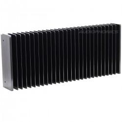 Radiateur Dissipateur Thermique Anodisé 300x125x50mm Noir