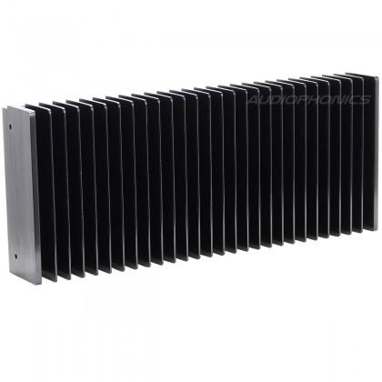 Heat Sink Radiator Black Anodized 301x125x50mm Black