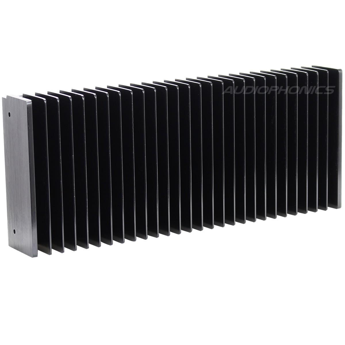 Heat Sink Radiator Black Anodized 300x125x50mm Black