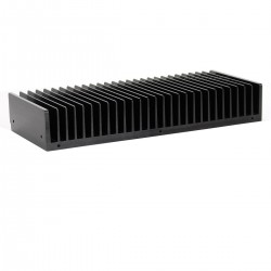 Heat Sink Radiator Black Anodized 301x125x50mm Black