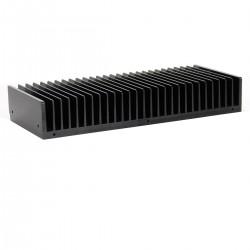 Radiateur Dissipateur Thermique Anodisé 301x125x50mm Noir