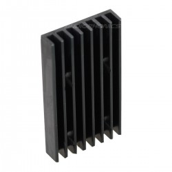 Heat Sink Radiator Black Anodized 40x22x5mm Black