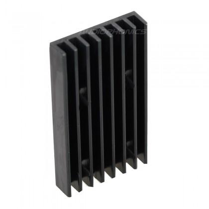 Heat Sink Radiator Black Anodized 40x22x5mm Black