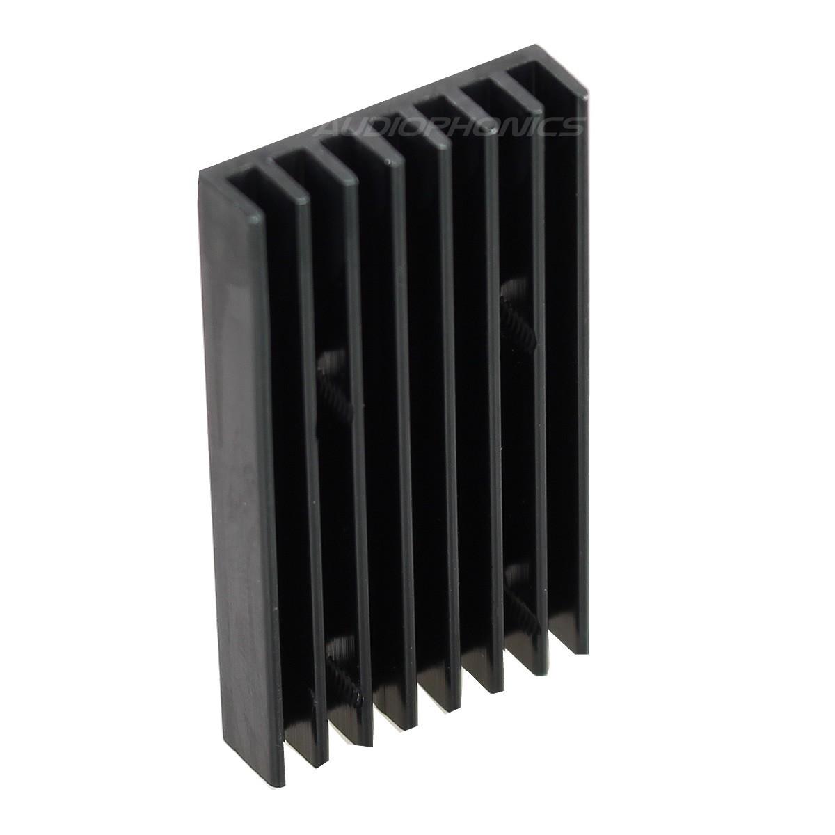 Heat Sink Radiator Black Anodized 40x22x5mm Black TO-220