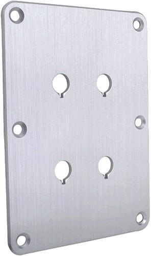 DAYTON AUDIO DBPP-SI Plaque aluminium bi-cablage Argent pour borniers
