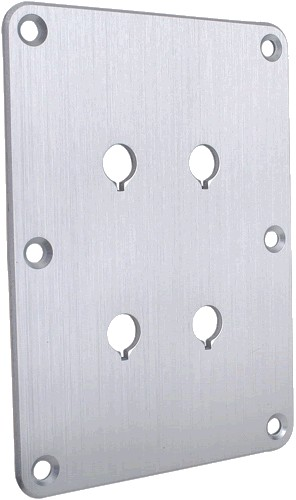 Aluminium plate bi-wired binding posts Silver