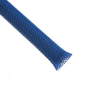 Gaine tressée 05-15mm Bleu Néon 7.75m