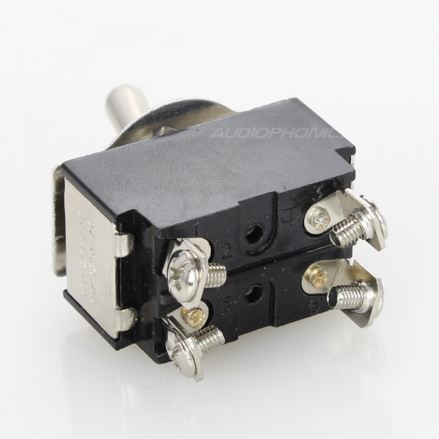 2 Poles Aviation Type Toggle Switch ON-OFF 250V 10A - Audiophonics