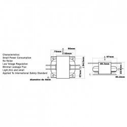 Transformateur R-CORE 60VA 15-0-15V