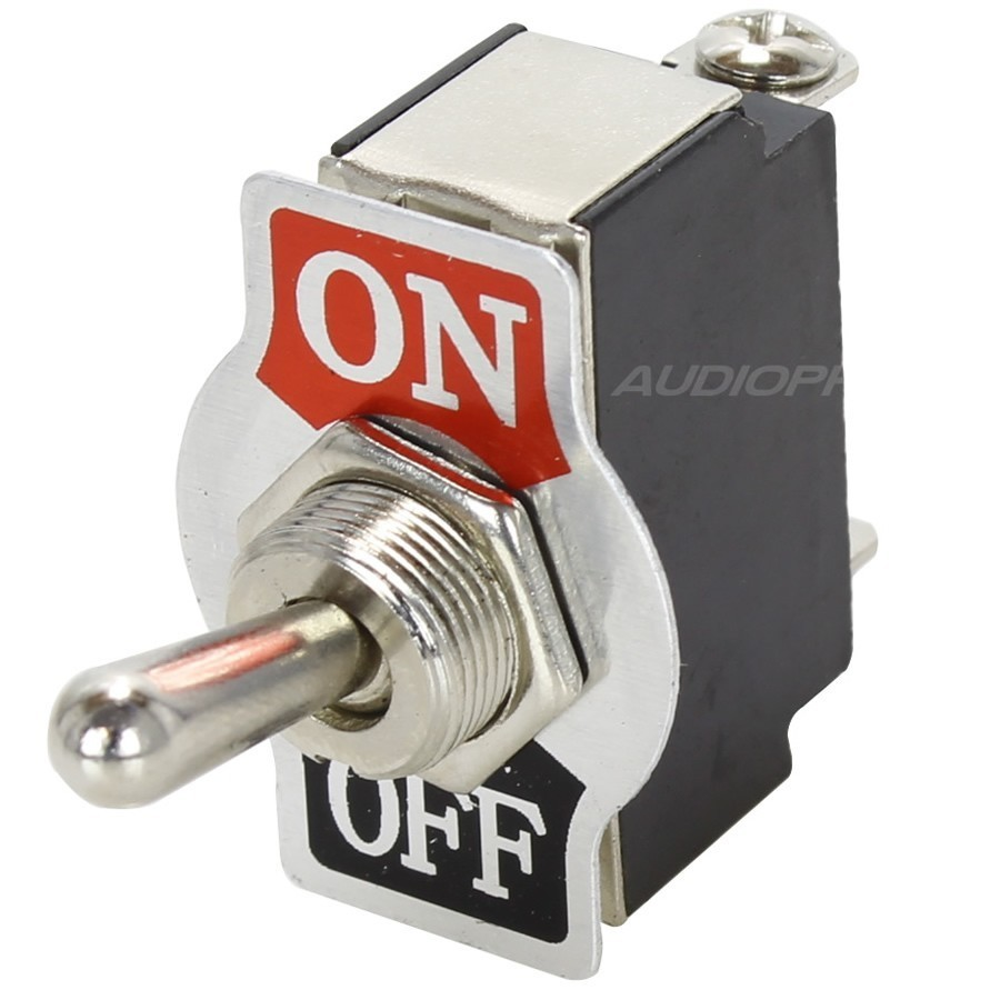 1 Pole Aviation Type Toggle Switch ON-OFF 250V 10A - Audiophonics