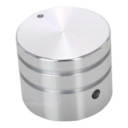 Bouton Aluminium Silver 30mm pour Boîtiers DIY Axe méplat Ø6mm