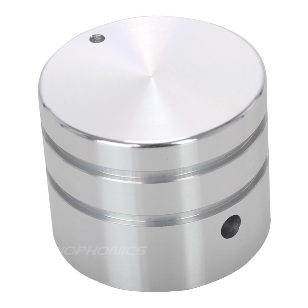 Bouton Aluminium Axe Méplat 30mm Ø6mm Argent pour Boîtiers DIY