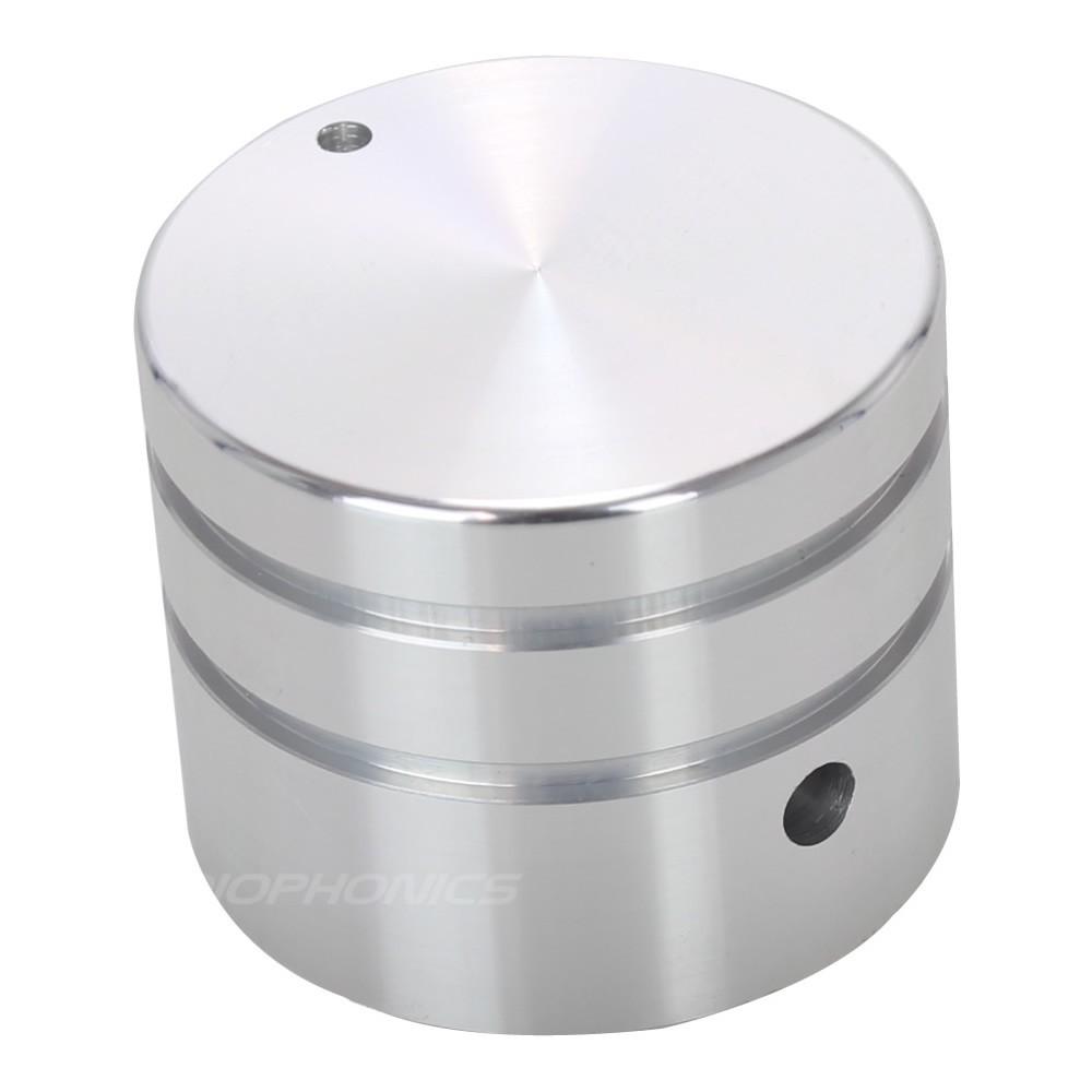 Silver Metal button 30mm for DIY Chassis