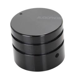 Bouton Aluminium Noir 30mm pour Boîtiers DIY Axe méplat Ø6mm
