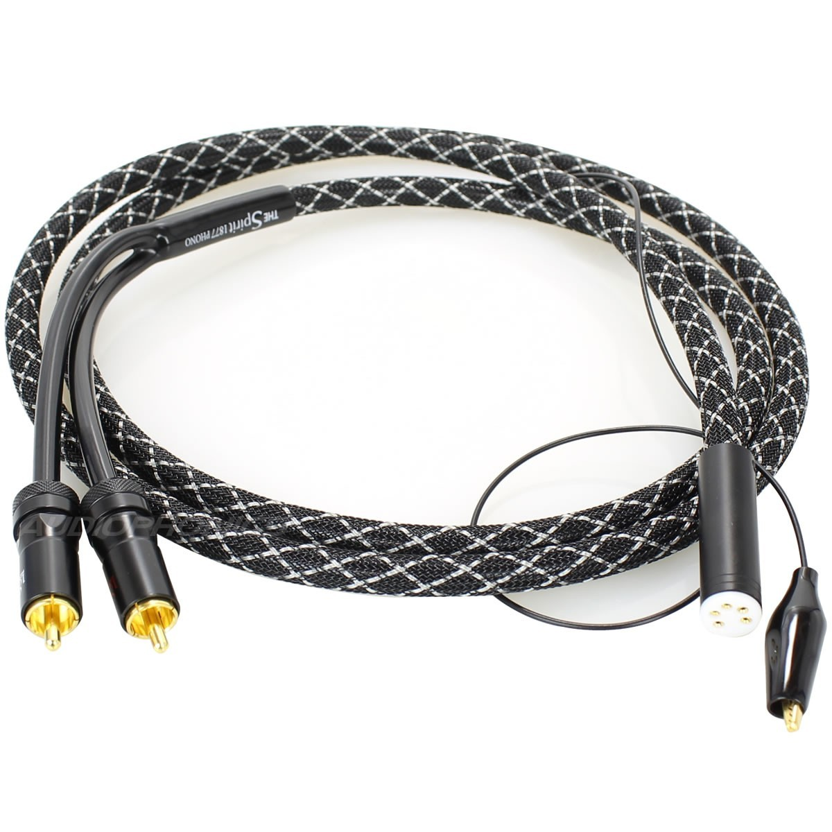1877PHONO THE SPIRIT ST Phono Cable DIN female 5 Pin - 2 RCA Black 1.5m