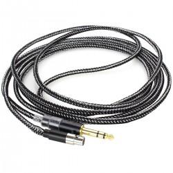 1877PHONO Cali Black Câble de modulation écouteurs Jack 6,3mm / Mini XLR 3m